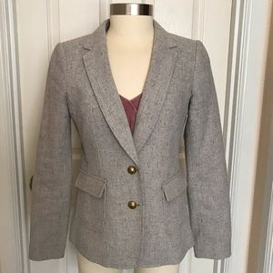 Banana Republic Tweed Hacking Jacket 8P Petite